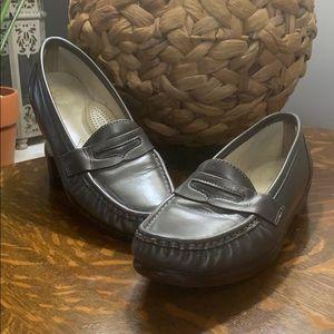 SAS Tripad pewter loafer (8 narrow)